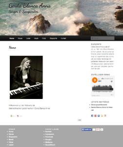 Screenshot der Webseite von Gerda Blanca Anna